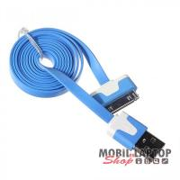 Adatkábel Apple iPhone 2G / 3G / 3GS / 4 / 4S és iPad 1 / 2 / 3 és iPod kék