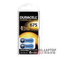 Elem Duracell EASYTAB 675/PR44 1,45V hallókészülékhez (6db/csomag)