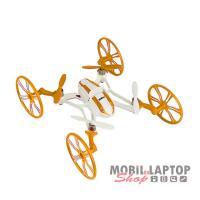 UDI R/C U843 drón ( 2.4 GHz, 4in1 kialakítás, 360 fokos fordulat ) fehér-narancs