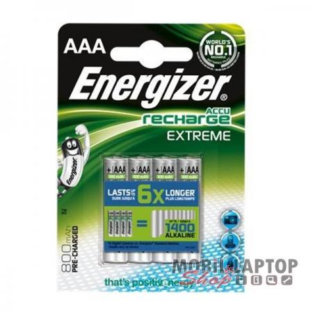 Elem Energizer Akkumulátor AAA HR03 1,2V 800mAh (4db/csomag)